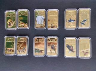 Colección 12 Monedas el Cazador Y Su Presa De Somalia