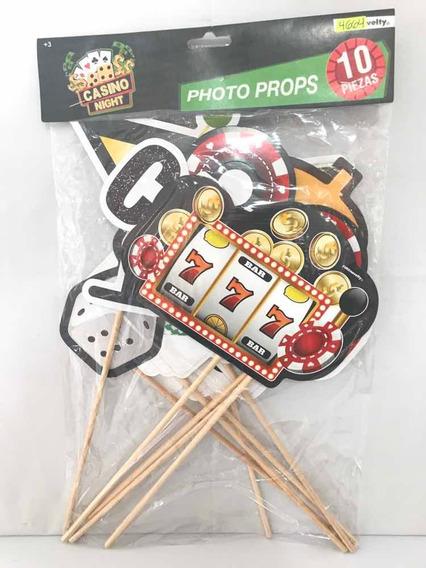 Letreros Fotos Photo Props Fiesta Casino Vegas Ruleta Poker
