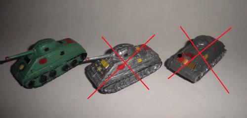 Juguete Tanque Guerra Sherman Plástico Topolín Chupetín 70's