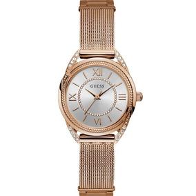 Relógio Guess Feminino Rosê Strass Original 92685lpgdra2