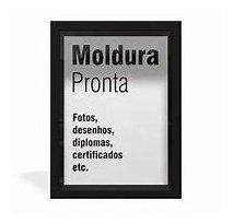 20,00 Oferta - Promoção: Quadro Moldura Madeira Laqueada Com Vidro Folha Papel A4 21x30 Bh Belo Horizonte