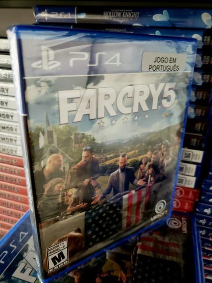 Ps4 Far Cry 5 Mídia Física Novo Lacrado Dublado Em Português