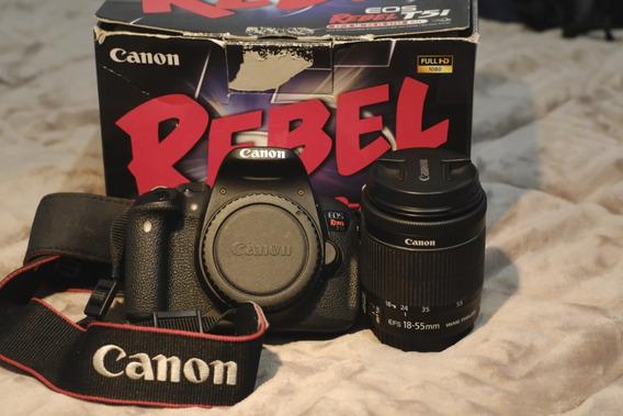Câmera Fotográfica Canon Rebel T5i Mais Lente 18-55mm