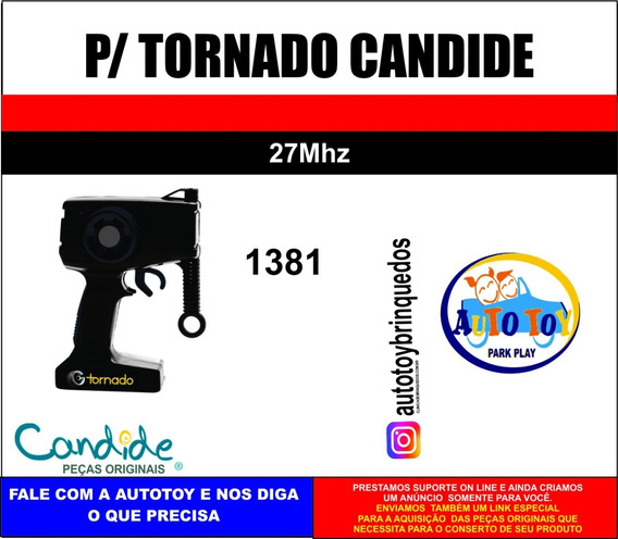 Tornado 1381 Candide - Só O Controle Remoto 27mhz Original