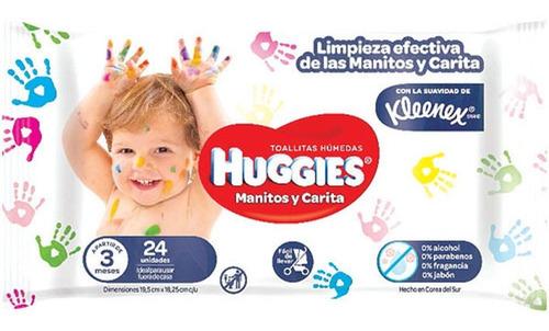Imagen 1 de 4 de Huggies Toallas Humedas Manitos Y Caritas X 96