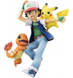Pokemon Ash Ketchum Charmander Pikachu Megahouse G.e.m.
