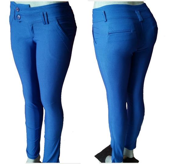 Pantalones Leggins Jeans Strech Tela Chicle Damas Blusones