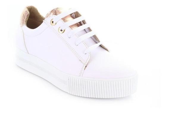 Tenis Para Mujer Brantano 2398-046435 Color Blanco