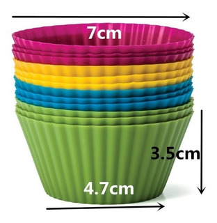 Capacillo Molde De Silicon Cupcakes Ponquesitos Por Docenas