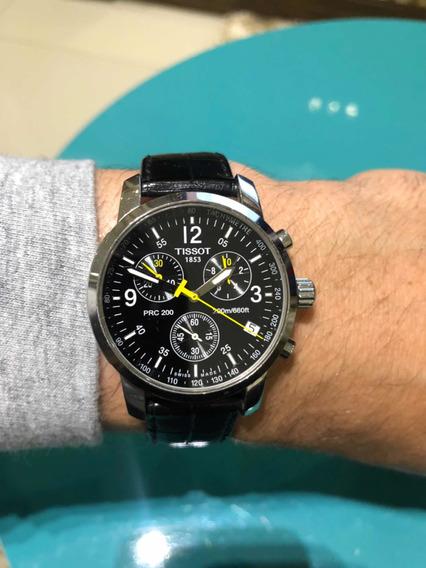 Relógio Tissot Original Com Duas Pulseiras (couro E Metal)