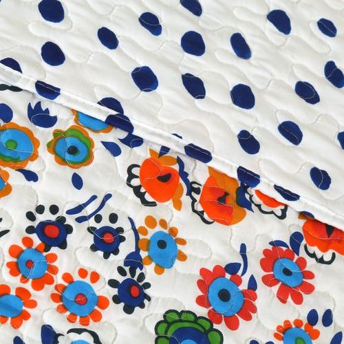 Cubrecama Quilt Cover C/funda Reversible - Queen Almería D4