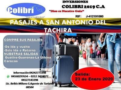 Pasajes San Antonio Del Tachira, Tours De Graduandos, Cúcuta