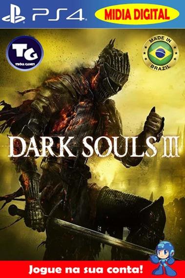 Dark Souls 3 + Season Pass + Dlcs - Aluguel 30 Dias - Ps4