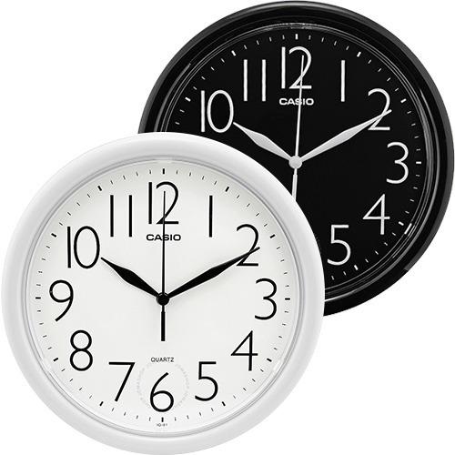 Imagen 1 de 6 de Reloj De Pared Casio Análogo Iq01 Blanco 25 Cm