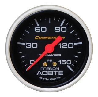 Presion De Aceite Orlan Rober Competicion 60mm 150 Psi