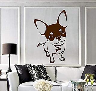 Hermoso Vinilo Decorativo Perro Chihuahua Tierno 50x50cm