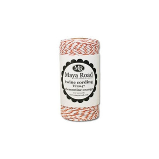 Maya Road Bakers Twine Cording, Clementine Orange