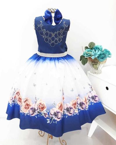 Vestido Infantil Festa Casamento Aniversario Formatura Tiara