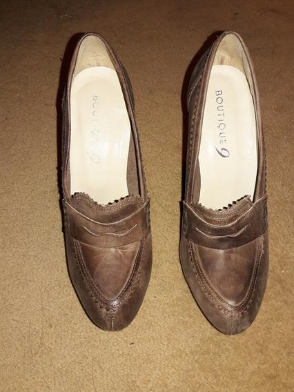 Nine West, Zapatos Colección Boutique, Real Cuero Marrón