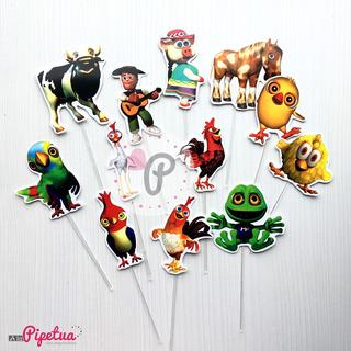 Pinchos Cupcakes La Granja De Zenon Reino Infantil Toppers