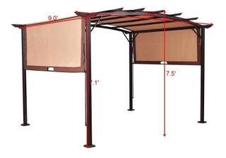 Pérgola De Metal Con Canopy