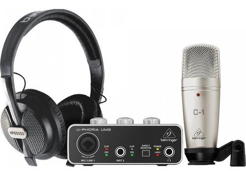 U-phoria Studio Kit Behringer Um2 + Hps5000 + C-1 + Envío