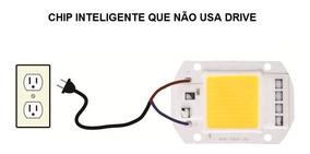 Chip Led 10w 220v Branco Frio Alto Brilho Sem Drive (x3un)