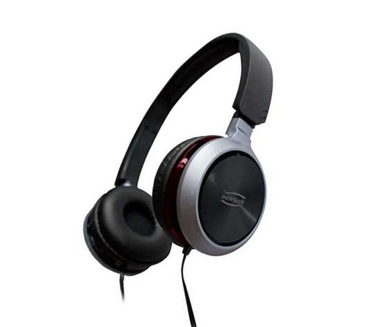 Headphone Headset Premium P2 4 Vias Cinza/vermelho Hs-115