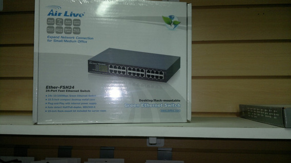 Switch 24 Puertos Airlive Ether-fsh24 Fast Ethernet