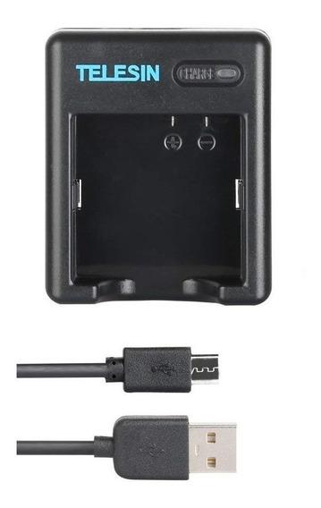 Carregador Duplo Telesin Baterias Az16-1 Xiaomi Yi 4k Cam 2