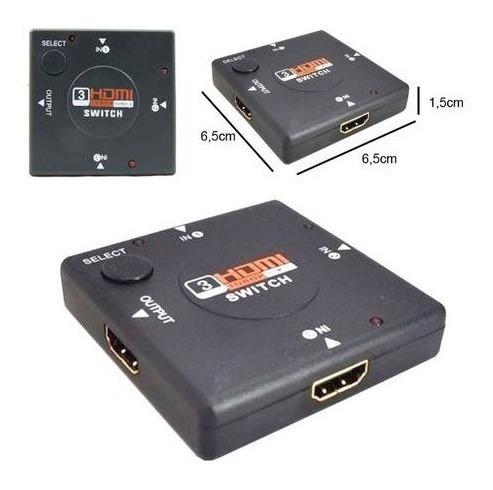 813- Adaptador Switch Hdmi Hdtv 3x1