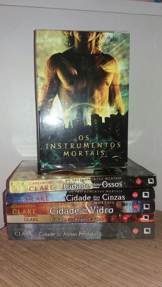 Box 4 Livros Saga Os Instrumentos Mortais + 5° Livro Da Saga