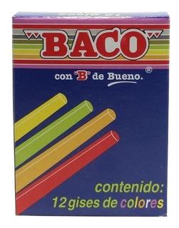 Caja Gises Baco Colores C/12 Precio De Mayoreo $7.34 Cotiza