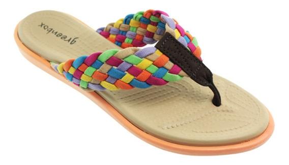 Sandalias Para Dama Con Tejido Ef-8905