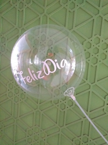 Globo Burbuja Personalizado Con Vinilo De Corte