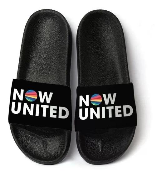 Now United Chinelo Slide Sandalia Banda Integrantes Promoção