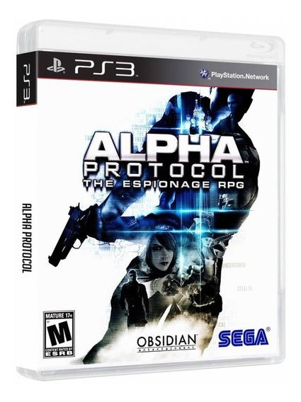 Alpha Protocol | Ps3 / Playstation 3 M. Fisica