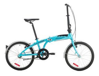 Bicicleta Plegable Futura Origami Aluminio Rodado 20 Cuotas