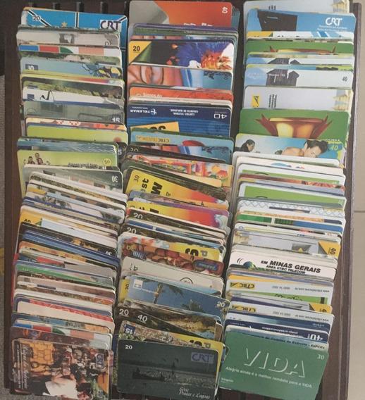 Lote Com 1000 Cartões Telefônicos Usados