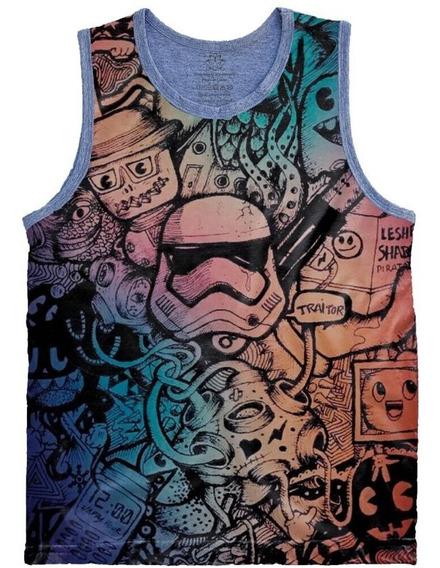 Camiseta Regata Tamanho Plus Size Full Print Storm Trooper