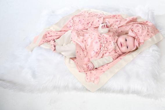 Saída Maternidade Menina Macacão Manta Vestido