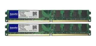 2 Memorias Ram 2gb Ddr2 800 Mhz Nuevas Pc 4gb X 2 Modulos