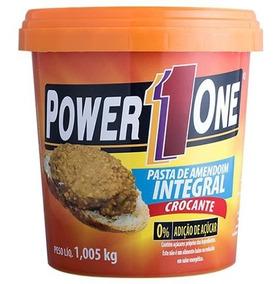 Pasta De Amendoim Integral Power One Crocante 1kg