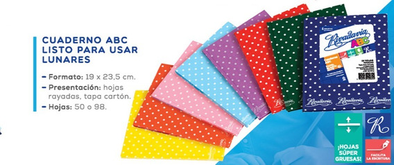 Cuaderno Rivadavia Abc 98 Hj Araña 19x23,5