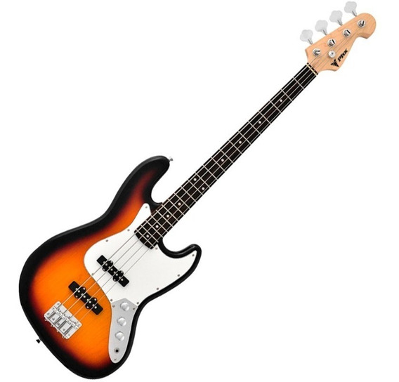 Contra Baixo Phoenix Jazz Bass Phx Jb3ts 4 Cordas Sunburst