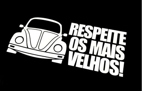 Adesivo Volkswagen Acessorio Fusca Respeite Os Mais Velhos