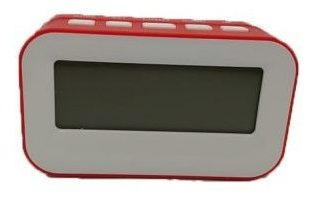 Relógio Digital De Mesa A Pilha - Vermelho