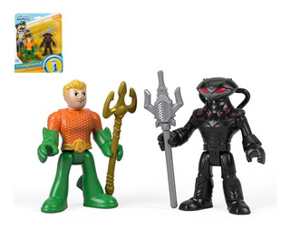 Aquaman + Black Manta + 2 Accesorios! Fisher-price Imaginext