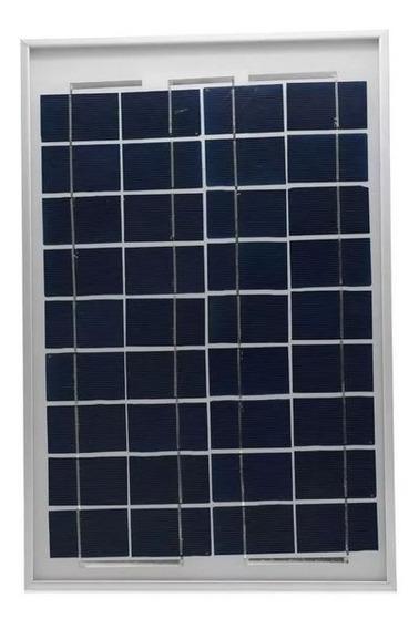 Kit Placa Painel Solar 10w (watts) + Controlador 30a Lcd Usb