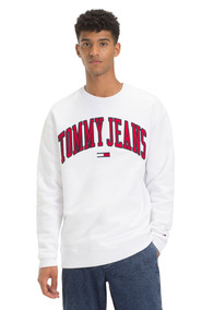 Sudadera Tjm Tommy Classics Logo Crew - Tommy Jeans - Blanco